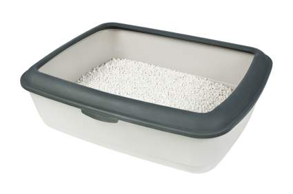 Litter tray with lip