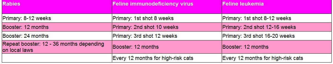 Non-core vaccinations for kittens