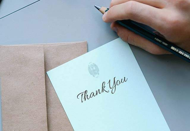 How to say thank you to a veterinarian