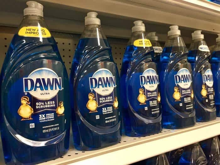 Dawn detergent to kill fleas