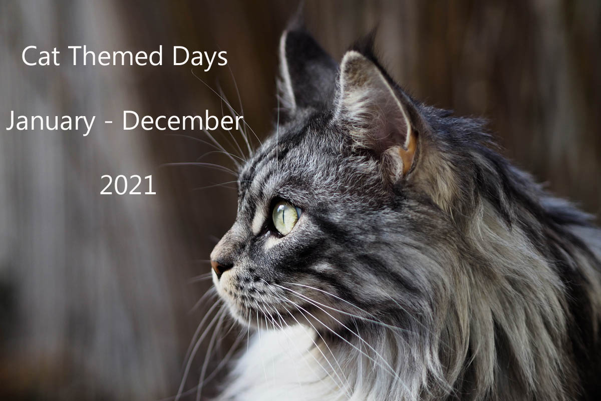 Cat themed days - January to December 2021